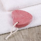 Пемза для педикюра «Сердце», 7 × 7 см, цвет красный