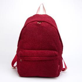 Рюкзак, отдел на молнии, наружный карман, цвет бордовый