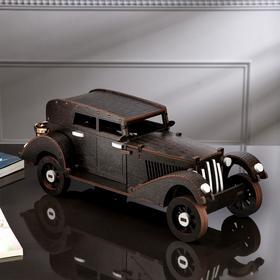 """Мини-бар деревянный """"Ретро авто"""", тёмный, 44 см"""