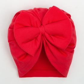 Шапочка для девочки, цвет коралловый, размер 44-46 (9 мес.)