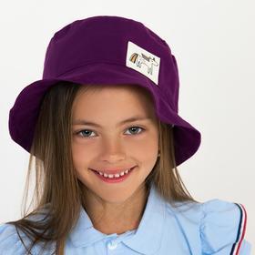 Панамка для девочки, цвет фиолетовый, размер 46-48