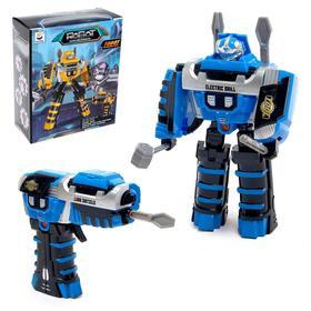 Робот с трансформацией «Шуруповёрт», работает от батареек, цвет синий