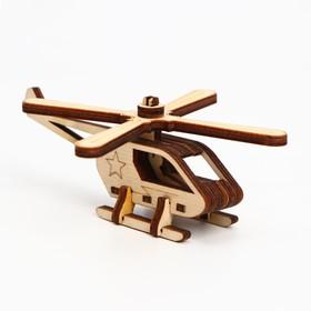 Деревянный конструктор. Cборная модель «Вертолёт» 14 деталей