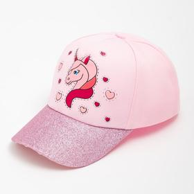 Бейсболка для девочки А.HK 20032, цвет розовый, размер 54-56