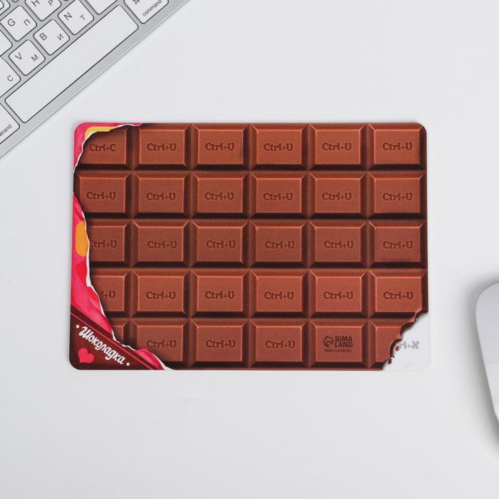 """Коврик для мыши """"Шоколадка"""" 21 х14,8 см - фото 1578732"""