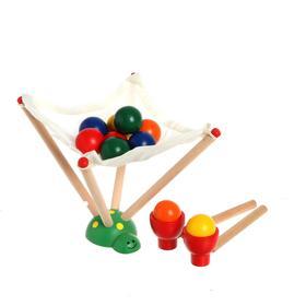 Деревянная игрушка «Вылови шарик», 7,5 × 9,5 × 16,5 см