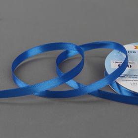 Лента атласная, двусторонняя, 6 мм × 33 ± 2 м, цвет синий №040