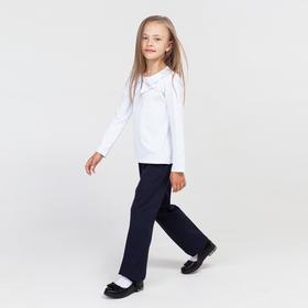 Брюки для девочки, цвет синий, рост 128 см