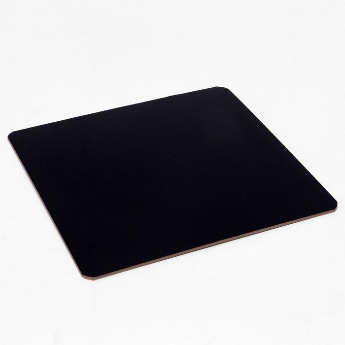 Подложка усиленная, черно-белая, 23 х 23 см, 3,2 мм - фото 9215598