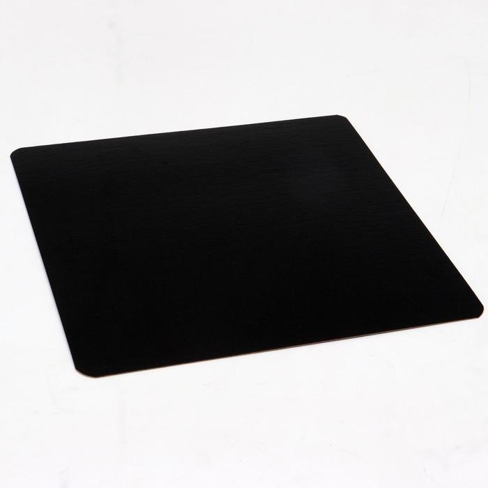 Подложка ламинированная, черно-белая, 18,5 х 18,5 см, 0,8 мм - фото 9215638