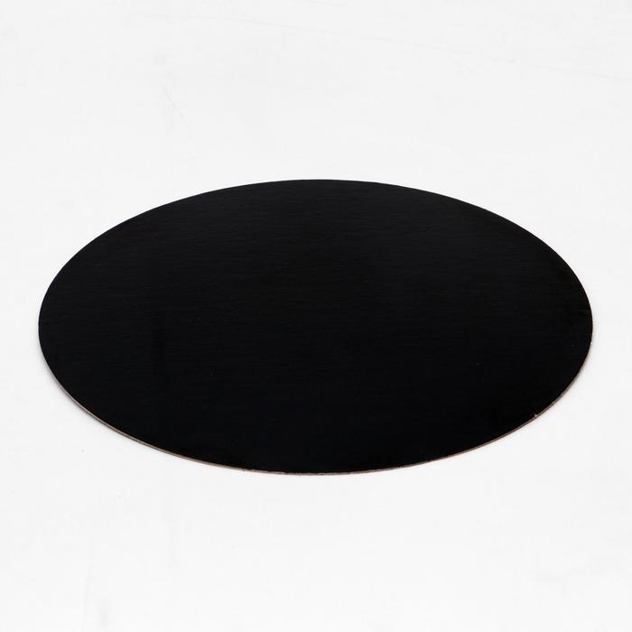 Подложка ламинированная, черно-белая, 22 см, 0,8 мм - фото 9215644
