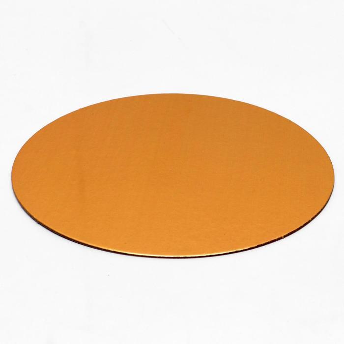 Подложка, золото-жемчуг, 20 см, 1,8 мм - фото 9215664