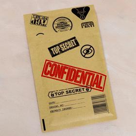 """Крафт-конверт с воздушно-пузырьковой плёнкой """"Совершенно секретно"""", 11 х 16 см"""