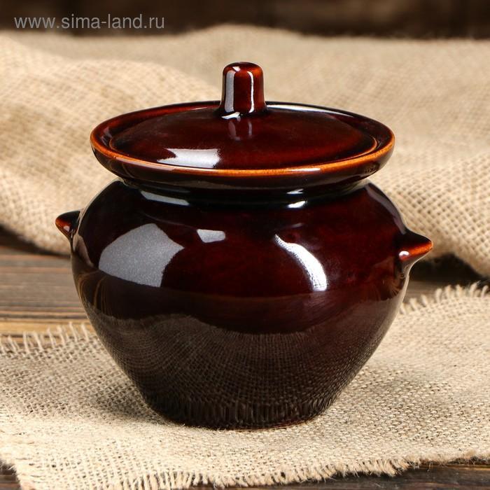 Горшочек для запекания коричневый с крышкой 0,45 л