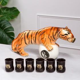 """Коньячный набор """"Тигр"""", 7 предметов, 1.9/0.1 л"""
