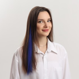 Локон накладной, прямой волос, на заколке, 50 см, 5 гр, цвет синий