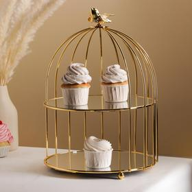{{photo.Alt || photo.Description || 'Подставка для десертов «Клетка», 26×26×36 см'}}