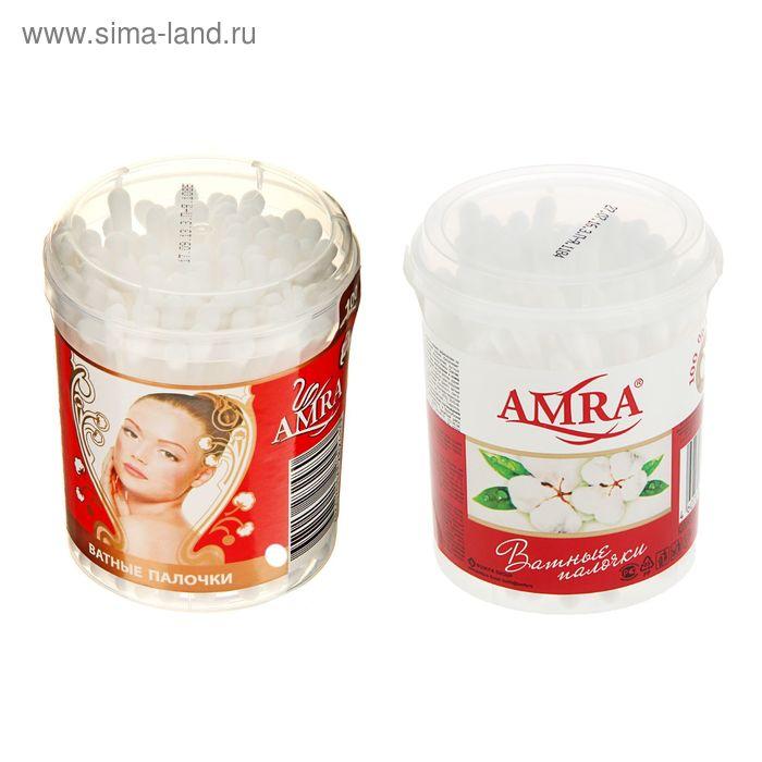 Ватные палочки Amra, в стакане, 100 шт.