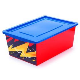 Ящик для игрушек «Молния», объём 30 л, цвет красный