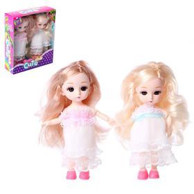 Набор кукол «Любимые подружки» шарнирные, в платье