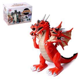 Динозавр «Дракон», работает от батареек, свет и звук, МИКС