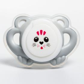 Соска-пустышка с колпачком, Kitty, от 0 мес., цвет МИКС