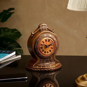 """Часы """"Классические"""", коричнево-золотистые, 24 см"""