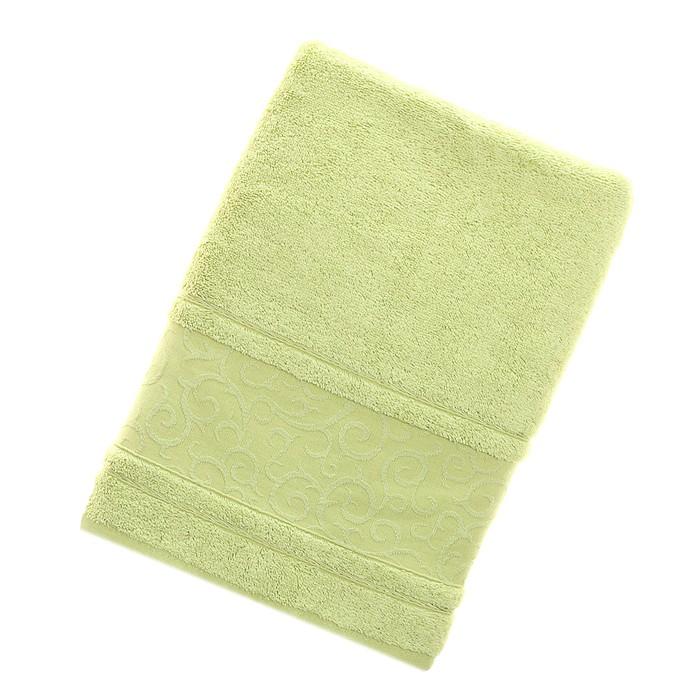 Полотенце махровое Fiesta Fidan Elegant 70*140см зеленый  500гр/м, бамбук