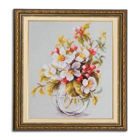 Набор для вышивания крестом «Яблоневый цвет» 18 × 23 см