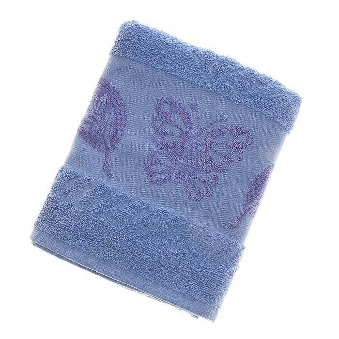 Полотенце махровое Fiesta Cotonn Butterfly 50*90см голубой 420 г/м2, хлопок 100%