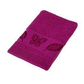 Полотенце махровое Fiesta Cotonn Butterfly 50х90 см, цвет малиновый