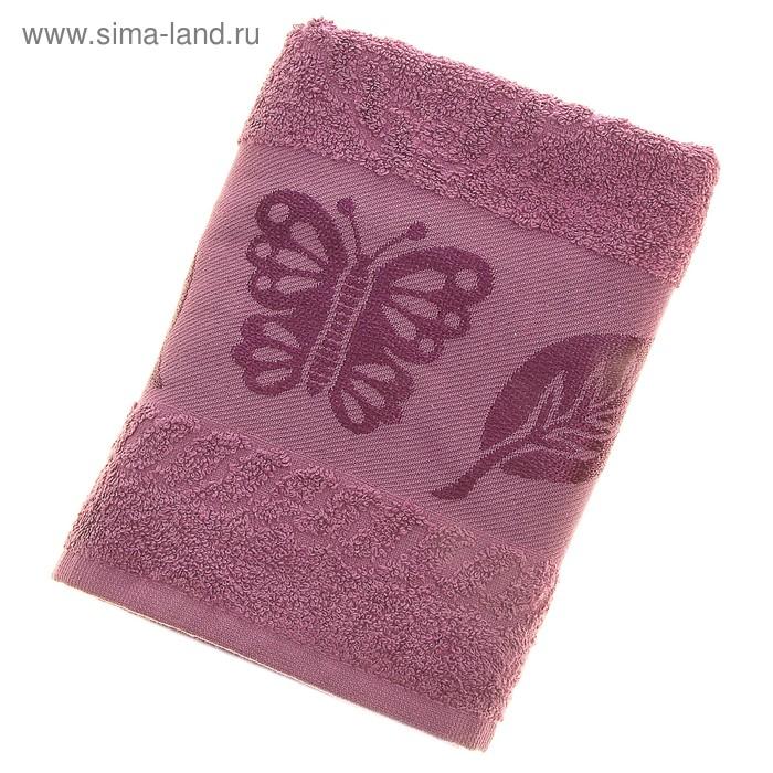 Полотенце махровое Fiesta Cotonn Butterfly 50*90см фиолетовый 500гр/м, хлопок 100%