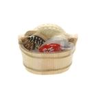 Набор банный 3 предмета: мочалка, пемза, расческа