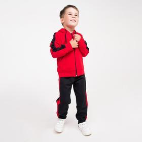 Костюм детский, цвет чёрный/красный, рост 98 см
