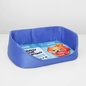Лежанка для животных с бортом 48 х 36 см «Захвачу твоё сердечко»