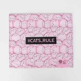 Текстильный матрасик 40х34 см Cats rule
