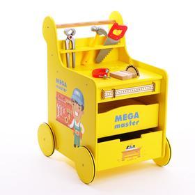 Детская игровая тележка-каталка «Мега Мастер» с набором инструментов