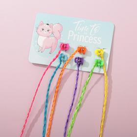 Пряди для волос на крабике Time to be Princess, 6 шт., 40 х 8 см