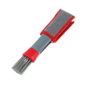 Щетка для чистки труднодоступных мест в салоне авто, 18 см, серо-красный