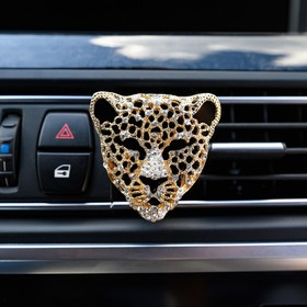 """Украшение в дефлектор автомобиля """"Леопард"""""""