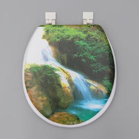 Сиденье для унитаза с крышкой «Водопад», 40×37 см