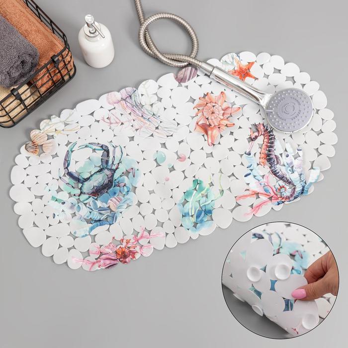 Коврик для ванны Доляна «Фауна», 35×65 см
