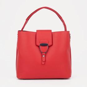 Тоут, отдел на молнии, наружный карман, регулируемый ремень, цвет красный