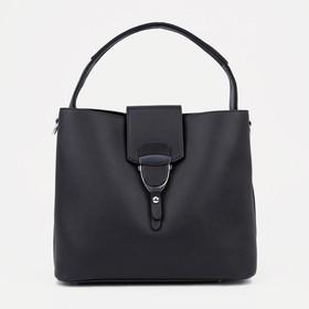 Тоут, отдел на молнии, наружный карман, регулируемый ремень, цвет чёрный