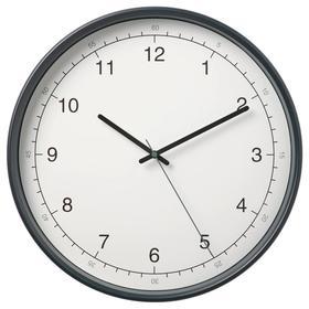 Настенные часы ТАГГАД, 38 см, цвет белый/серый