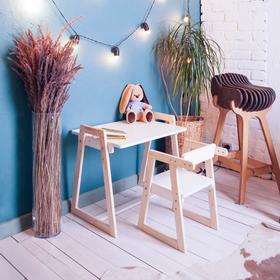 Детская растущая парта и стул Лофт 640x450x580 Белый