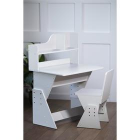 Детская растущая парта и стул Классик 700x560x1100 Белый