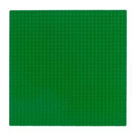 Пластина-основание для конструктора, 25,5×25,5 см, цвет зелёный