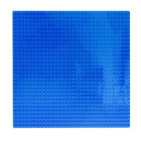 Пластина-основание для конструктора, 25,5×25,5 см, цвет голубой
