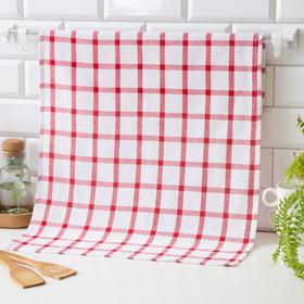 Кухонное полотенце 45*70, Red,80% хлопок, 20 п/э